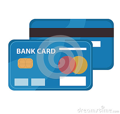 Credit Card Icon, Flat Design. Bankcard Isolated On White.