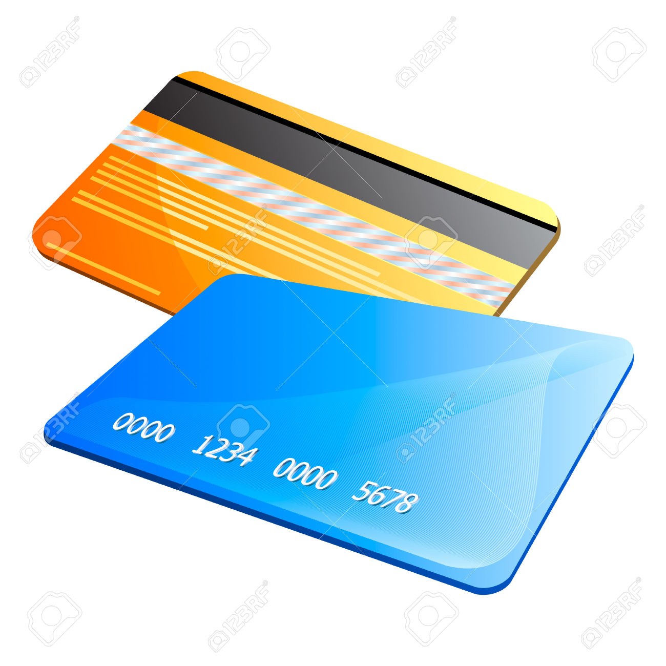 Visa credit card clipart.