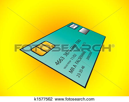 Clip Art of Bank Card k1577562.