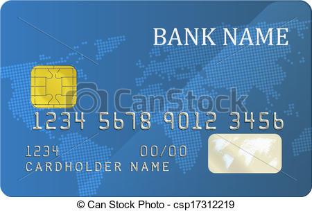 Vector Clip Art of Bank card.