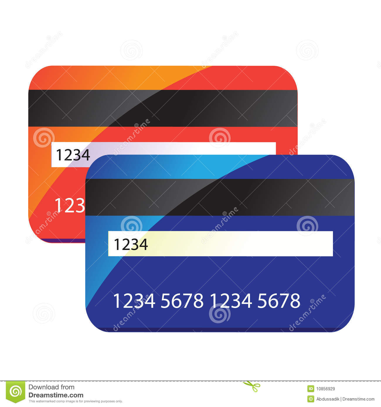Bank Credit Card Royalty Free Stock Images.
