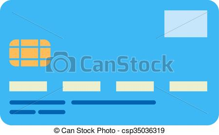 Vector Clip Art of bank card.