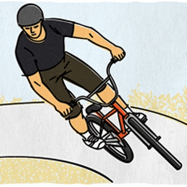 Banked turn clipart #1