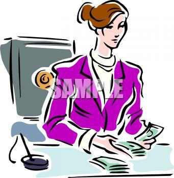 Bank Teller Clipart.