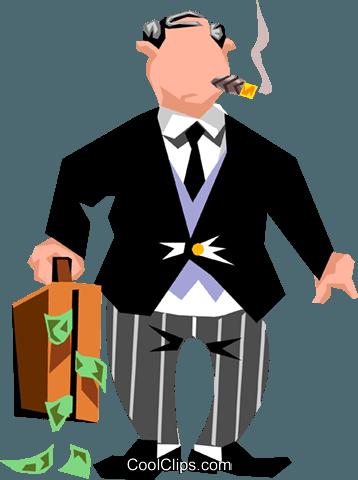 Banker Royalty Free Vector Clip Art illustration.