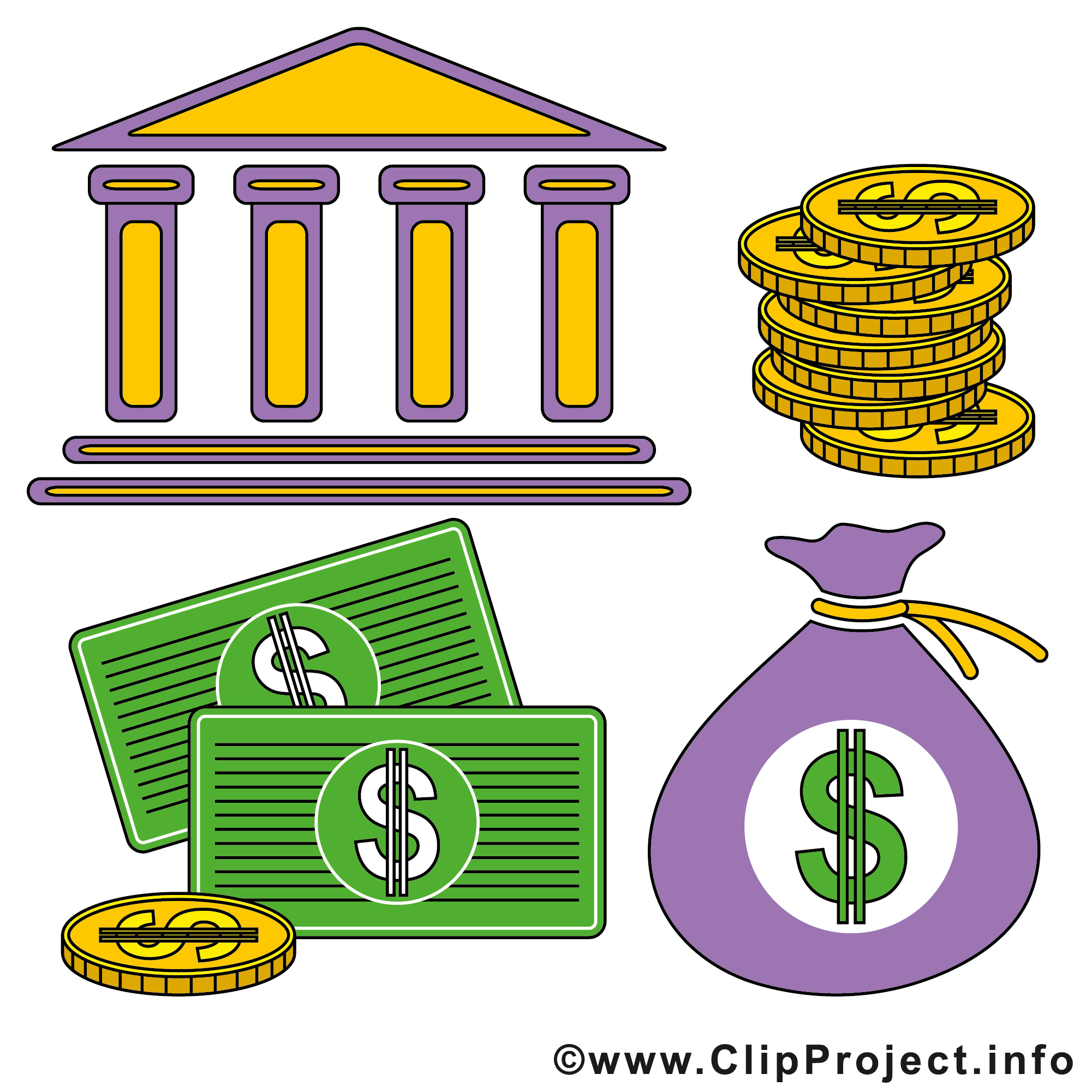 Banking clip art.