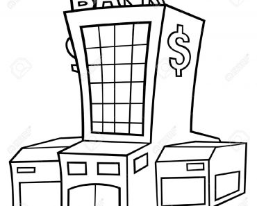 Bank clipart black and white, Bank black and white.