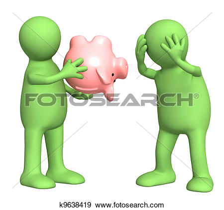 Stock Illustration of Financial crisis k9638419.