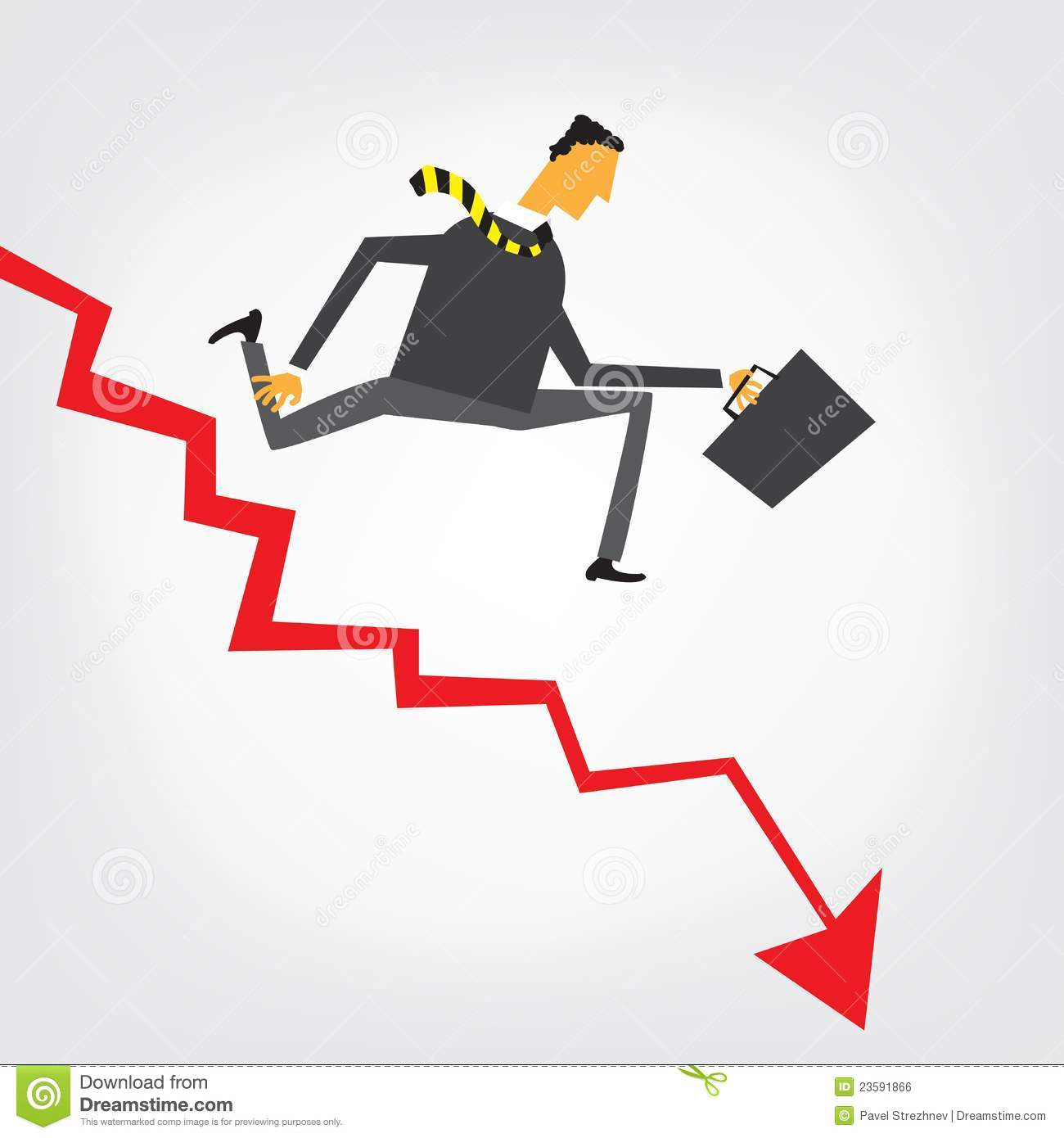 Financial Crisis Royalty Free Stock Image.