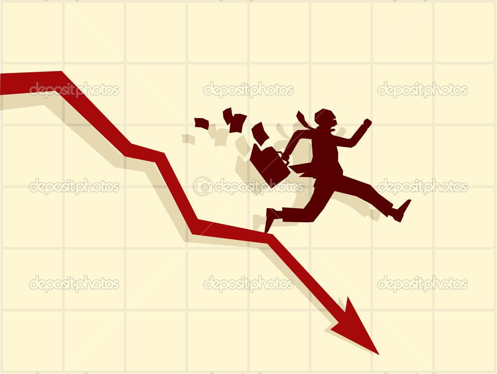 Vector concept of financial crisis — Stock Vector © Elisanth #4076092.