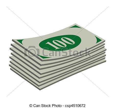 Clip Art of Bank note.