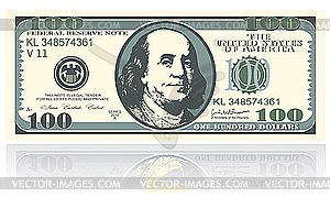 hundred dollar banknote.