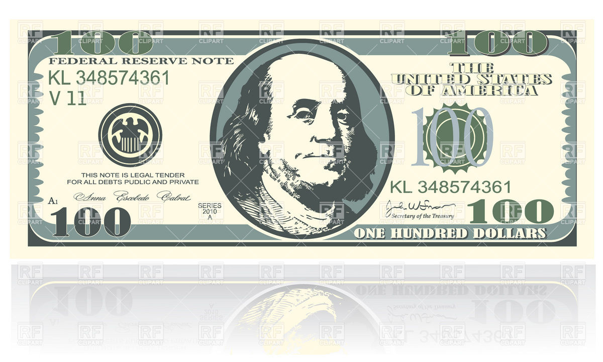 One hundred dollars banknote Vector Image #19057.