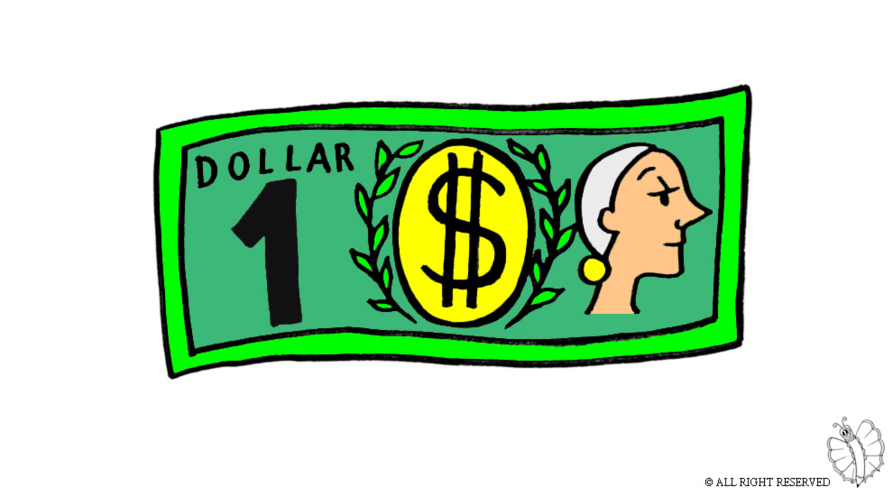 Bank note clipart.
