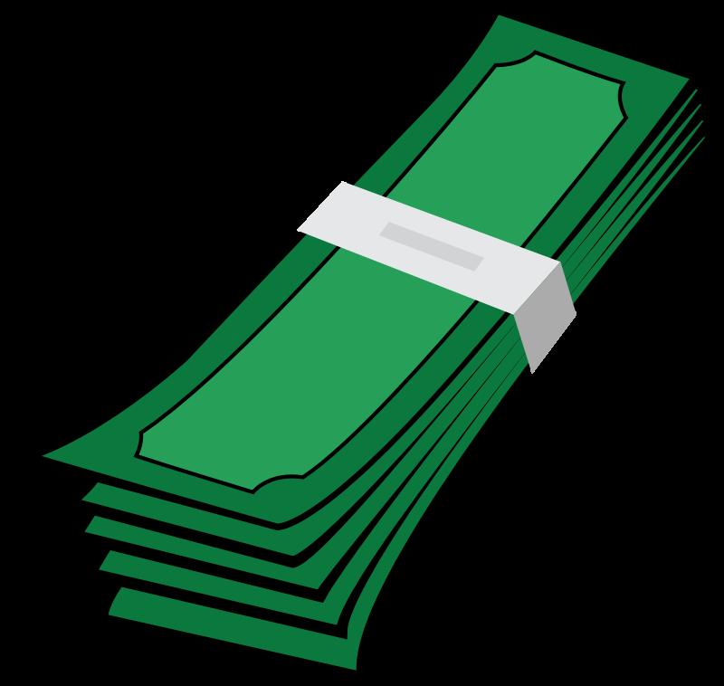 Clipart money notes.