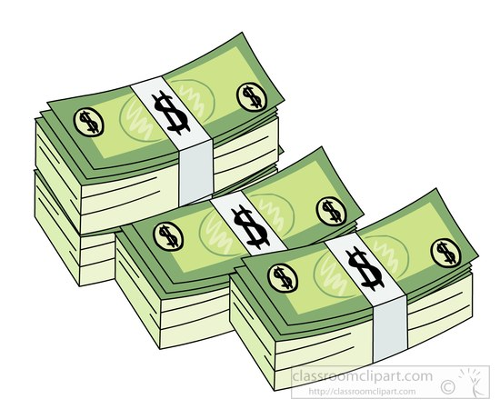 Currency notes clip art.