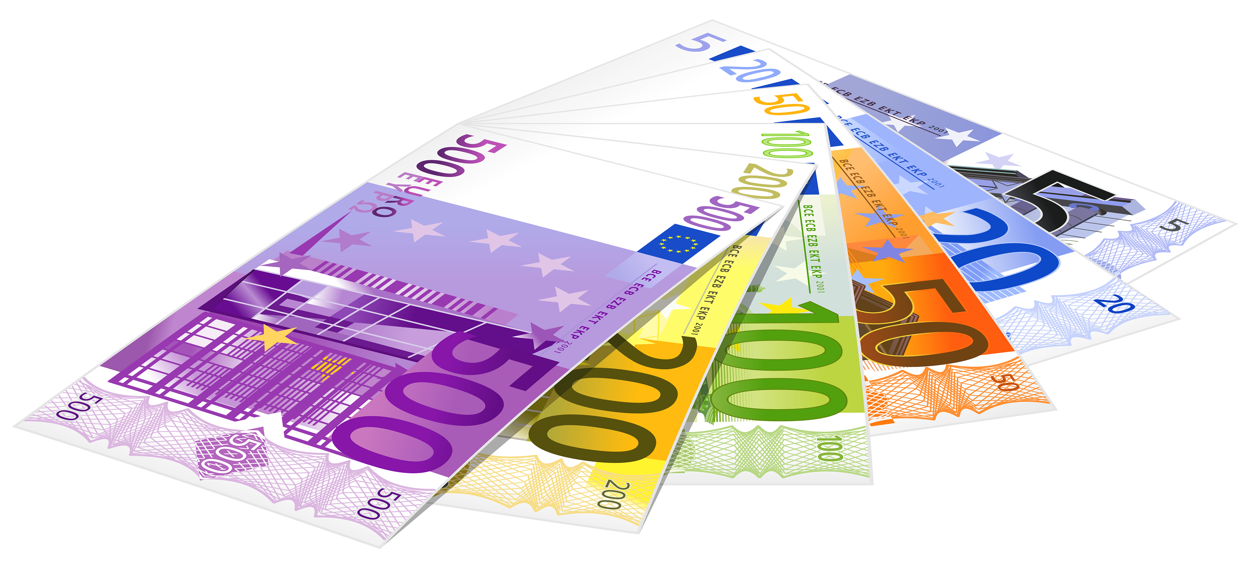 Euro Banknotes PNG Clipart.
