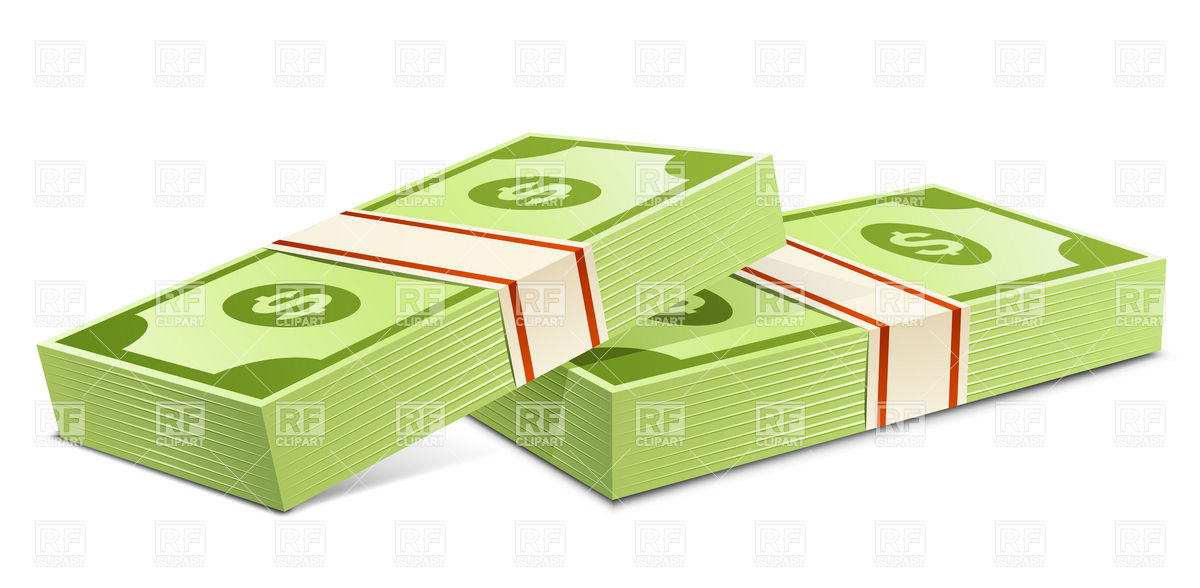 Clipart bank notes.