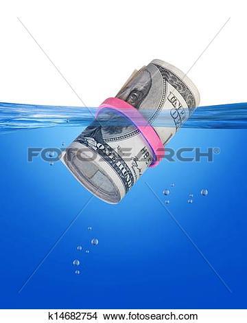 Drawings of Wet Bankroll. k14682754.