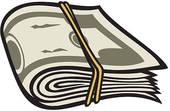 Clipart of Money roll k11109143.