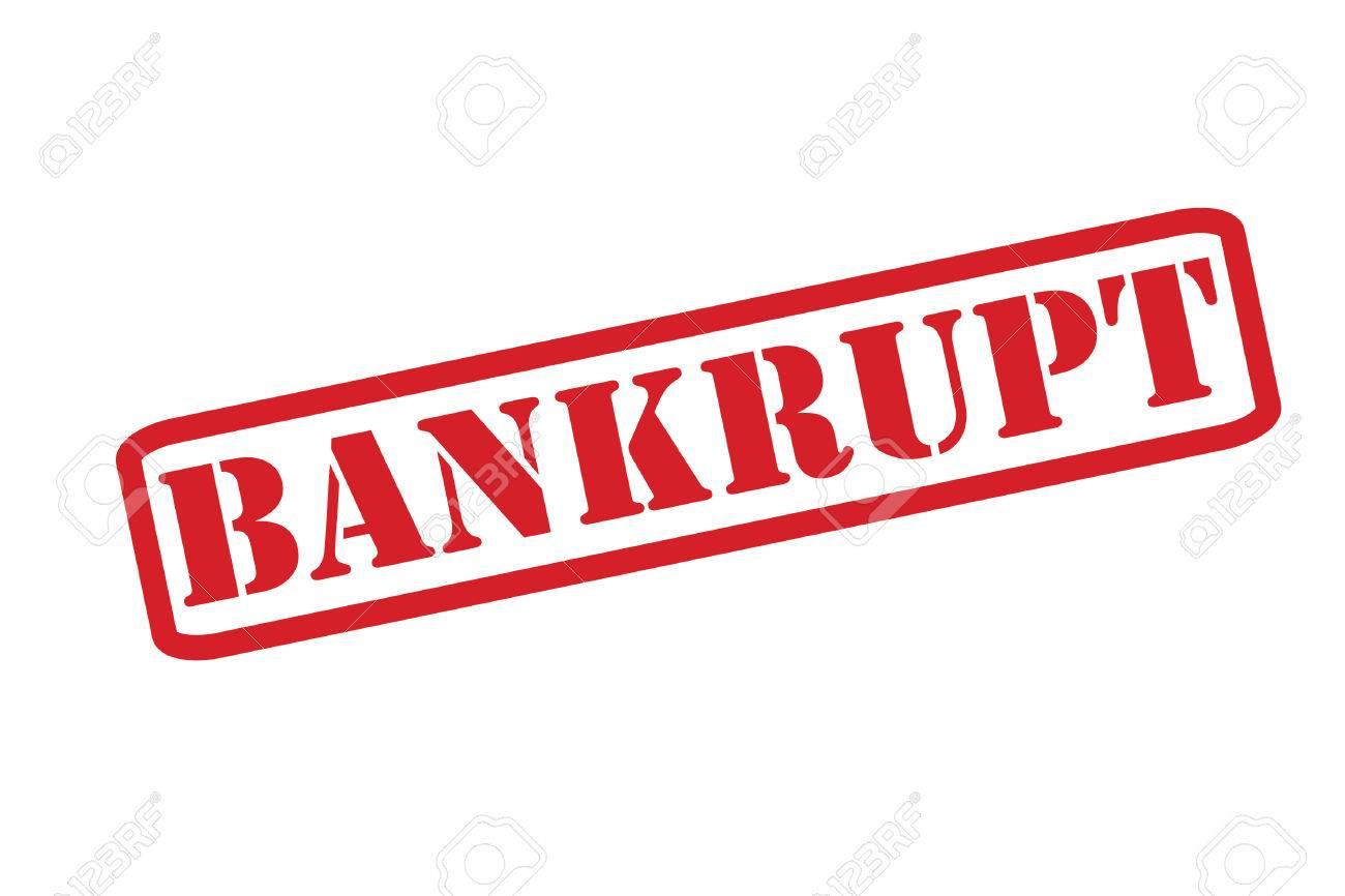 BANKRUPT Rubber Stamp vector over a white background..