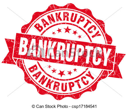 Drawing of Bankruptcy red grunge vintage seal csp17184541.