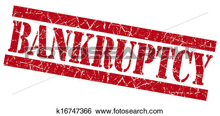 Stock Illustration of Bankruptcy grunge red stamp k16747366.