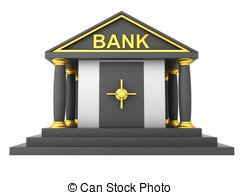 Financial banks clipart.