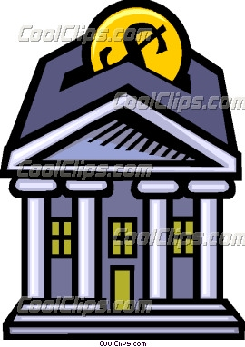 Putting money in the bank Vector Clip art.
