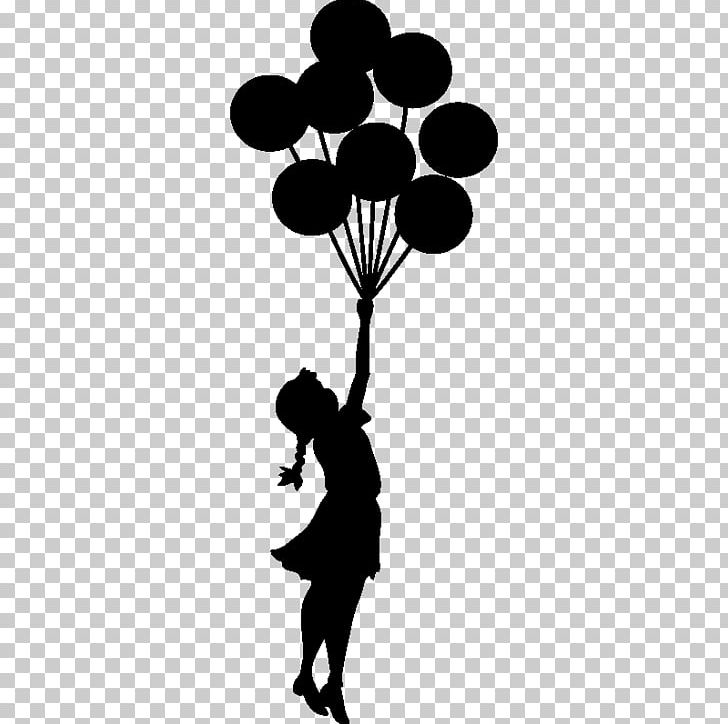 Balloon Girl Stencil Street Art Graffiti PNG, Clipart.