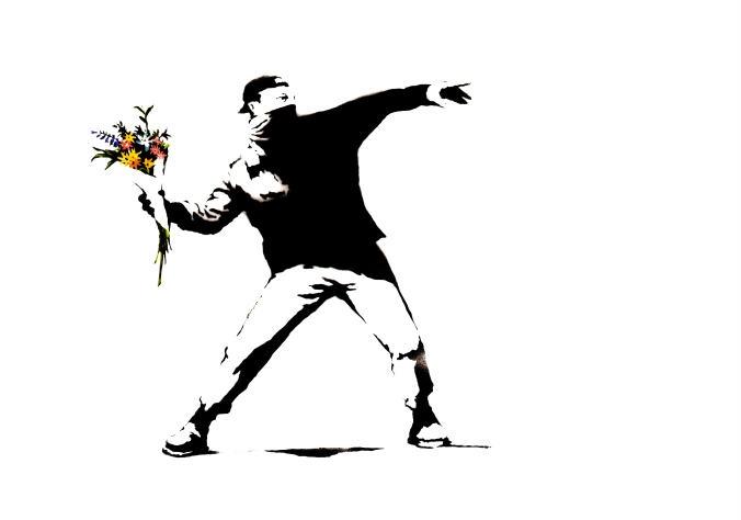 Banksy graffiti clipart.