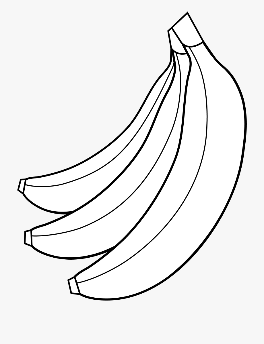 Colorable Bunch Of Bananas.