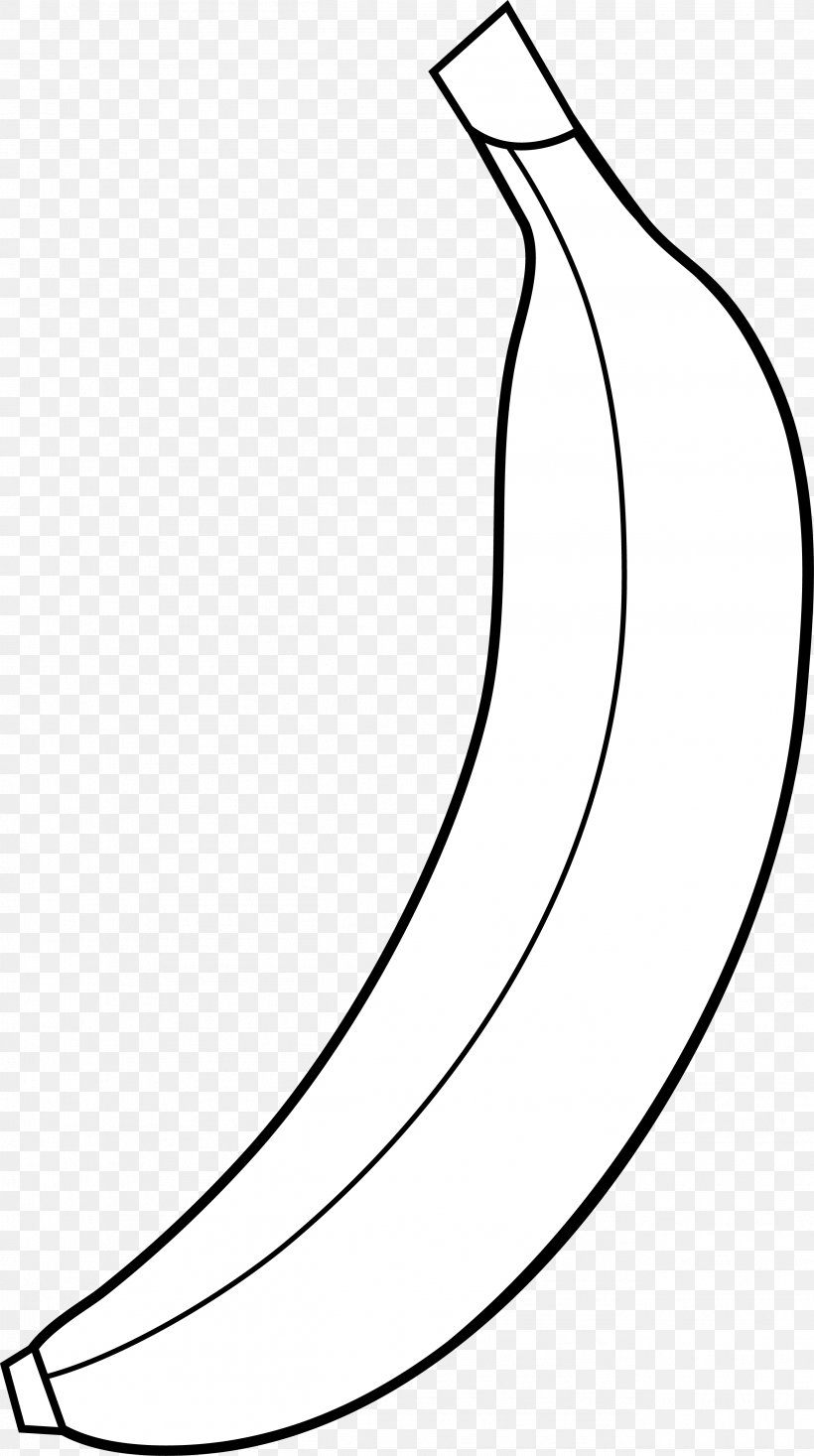Banana Muffin Black Clip Art, PNG, 2604x4659px, Banana, Area.
