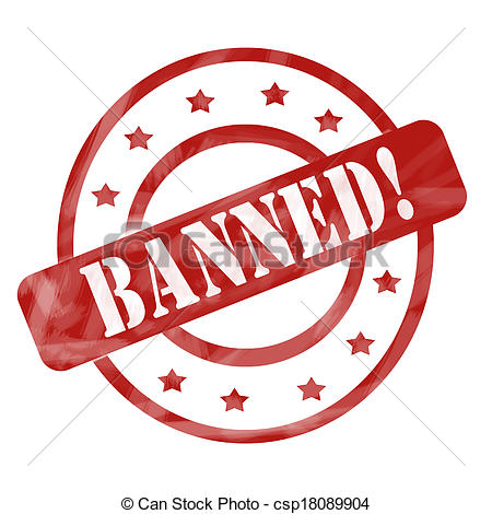 Banned Circle Clipart.