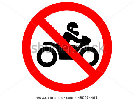 No Motorcycle Sign Isolated No Bikes Stock Illustration 146608133.