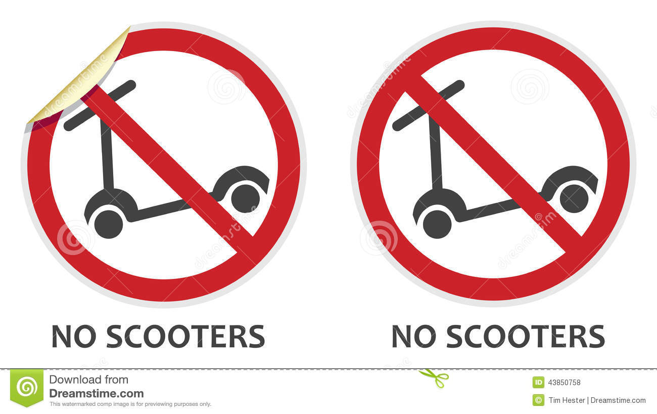 Scooters Stock Illustrations.