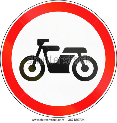 Motorcycle Prohibition Sign No Motorcycle No Stock Vector.