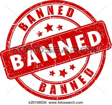 Clipart of Banned vector stamp k20156034.