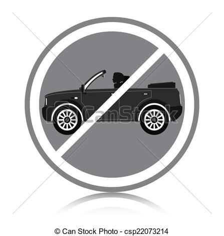 Vector Clip Art of Car ban.