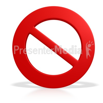 Prohibited Symbol.