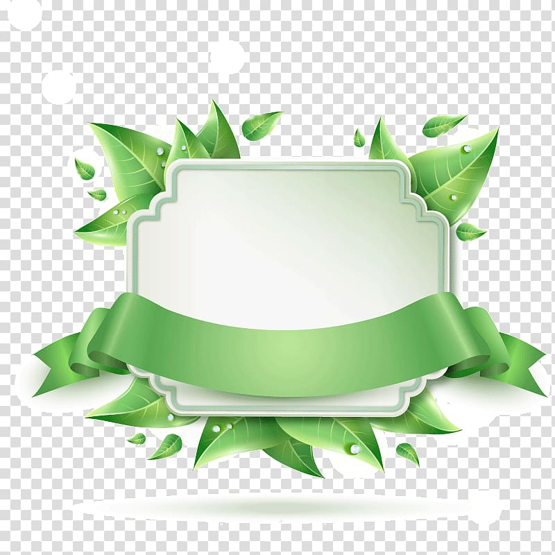 White and green floral tray illustration, Banner Istanbul.
