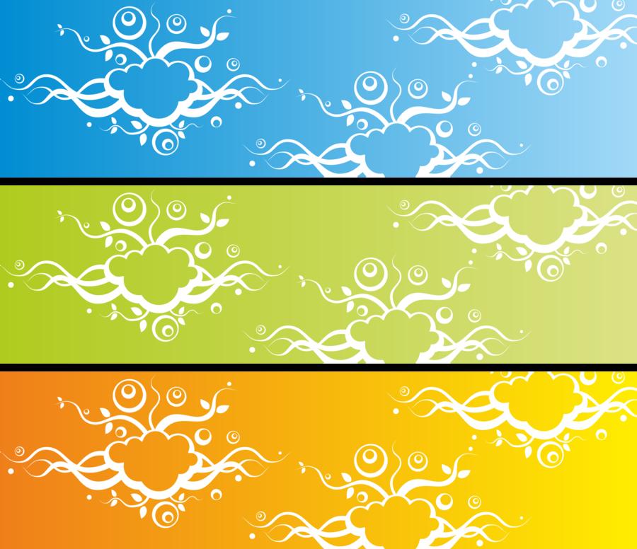 Flower Border Design clipart.