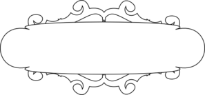 White And Black Banner Clip Art at Clker.com.