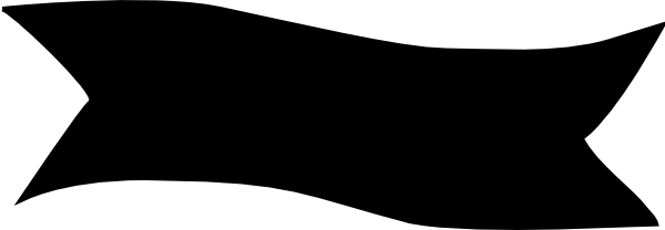 Free Black Banner Clipart Image.