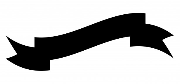Ribbon Banner Clipart Black And White.