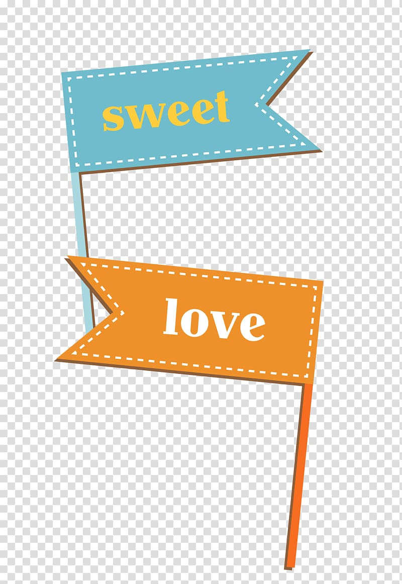 Sweet and love text on brown background, Euclidean Flag.