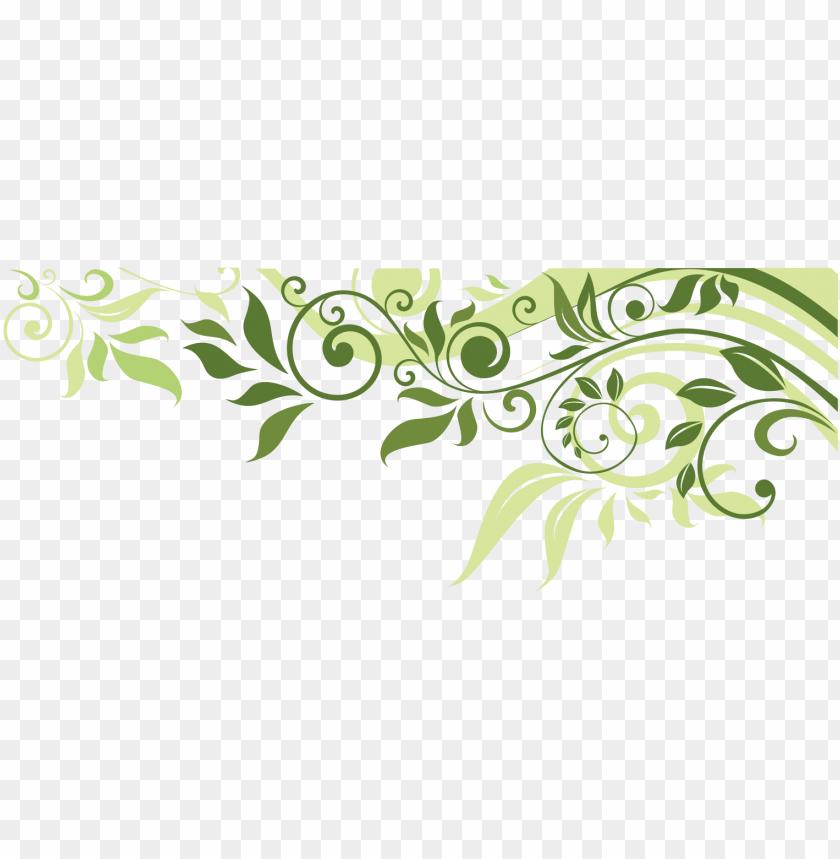 flower leaf spring illustration banner border clipart.