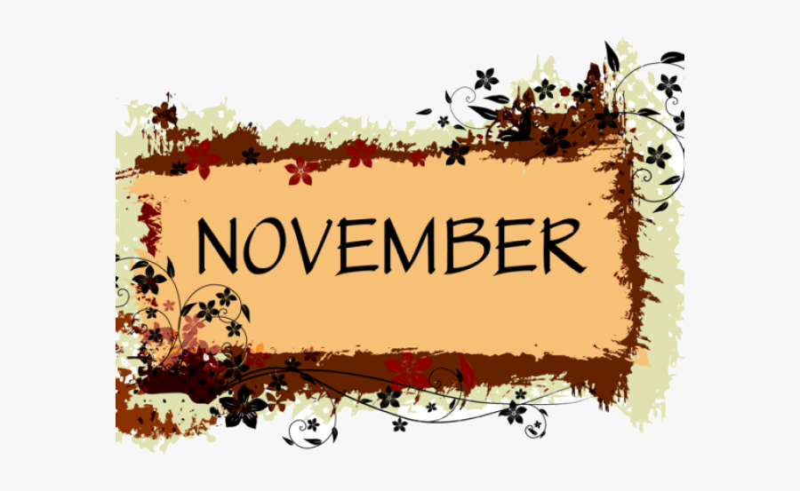 November Clipart Images Banner Border Black And White.