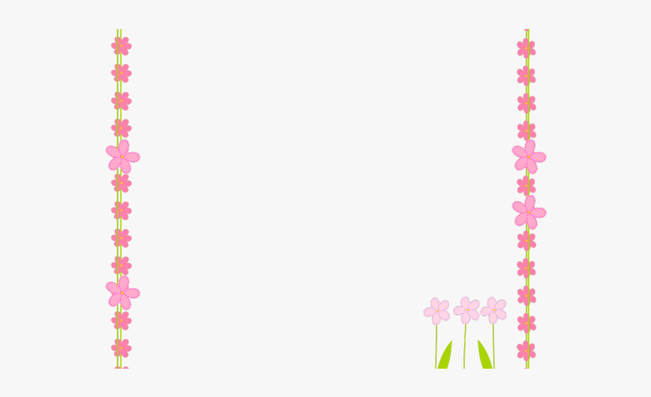 Flowers Borders Clipart Banner , Transparent Cartoon, Free.