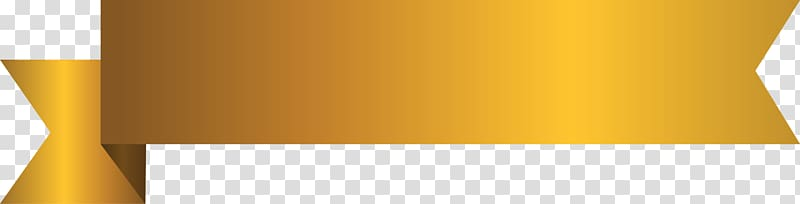 Gold ribbon , Banner, Border banner transparent background.